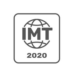 imt-2020 certification symbol international vector image