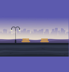 Landscape at night garden for background game vector