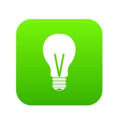 light bulb icon digital green vector image