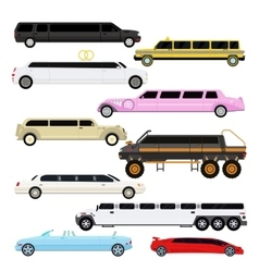 Limousine set vector