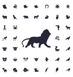 Lion icon vector