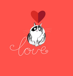 lover funny cat vector image