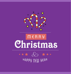 merry christmas card with creative design and vector image