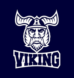 modern harsh viking conqueror logo vector image