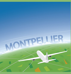 Montpellier flight destination vector
