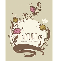 Nature card vector