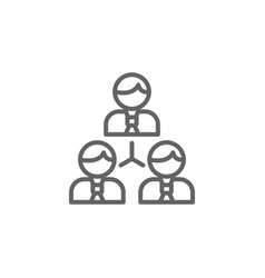 Networking men outline icon elements business vector