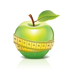 Object green apple tape vector