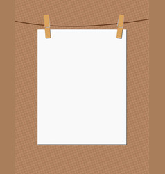 paper and clothespins vector image
