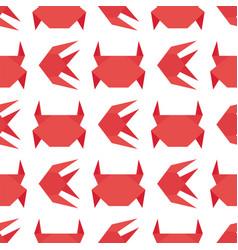 Paper origami crab flat fresh vector