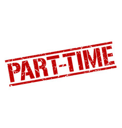part-time stamp vector image