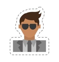 People fashionista man icon image vector