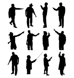 People pointing showing vector