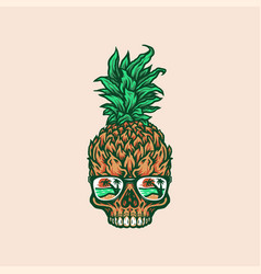 Pineapple skull vector