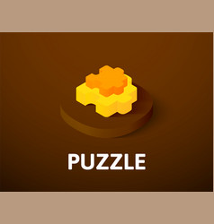 puzzle isometric icon isolated on color vector image
