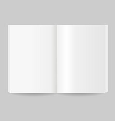 realistic detailed 3d magazine template open view vector image