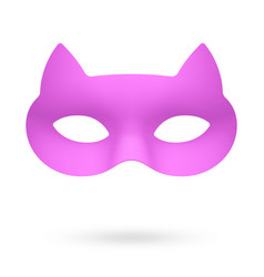 rose cat masquerade eye mask vector image