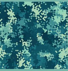 seamless digital marine pixel camo texture vector image