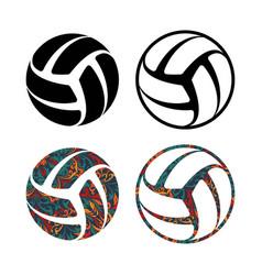 set four balls vector image