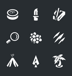 Set survival icons vector