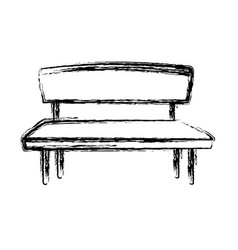Sketch bench seat wooden furniture icon vector