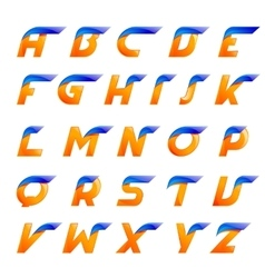 Speed blue and orange letters creative design vector image