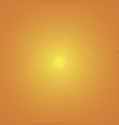 sun rays circle rays orange background spiral vector image