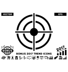 Target Flat Icon With 2017 Bonus Trend vector