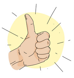 thumb up simple vector image