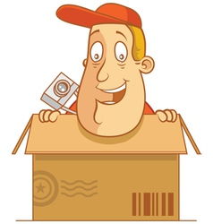 Tourist carton delivery vector