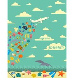 Travel poster Vintage style design vector