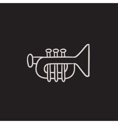 Trumpet sketch icon vector image vector image