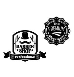 Vintage barber shop designs set vector