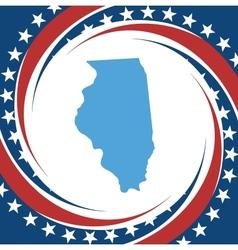 Vintage label Illinois vector