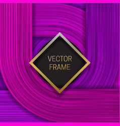 Volumetric frame on saturated background in vector