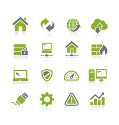 web developer icons natura series vector image