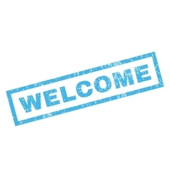 Welcome Rubber Stamp vector image