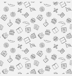 writer seamless pattern or background vector image