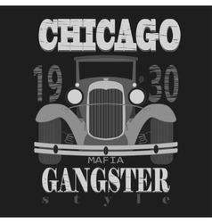 Chicagol t-shirt graphic design Gangster style vector image