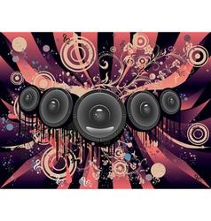 Grunge Loud Speaker4 vector image vector image