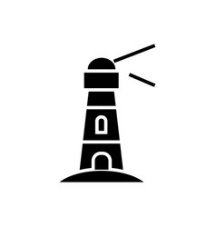 lighthouse - nautical building icon vector image