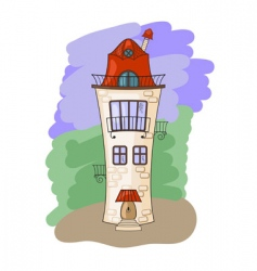 medieval house vector image