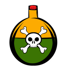 poison icon cartoon vector image