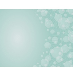 Background with the dynamic lines and bubles on vector