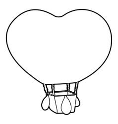 Balloon icon outline style vector image