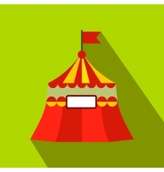 Circus tent flat icon vector