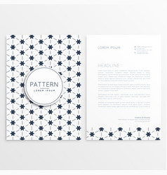 clean letterhead design with abstract pattern vector image vector image