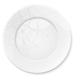 Empty white plate vector image vector image