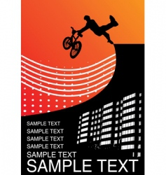 guy on BMX vector image