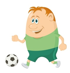 Soccer with ball vector image vector image